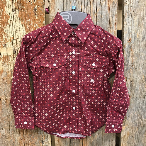Boys Roper Button up - red