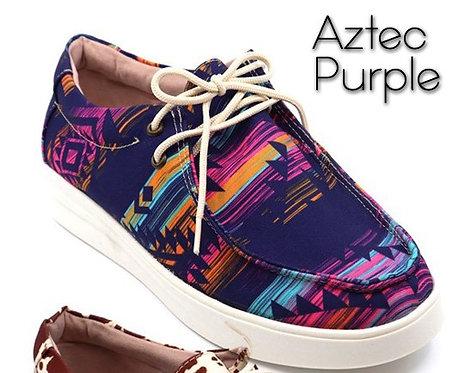 Purple Aztec Slip On Bros