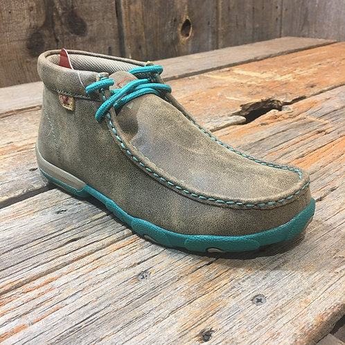 Women's Driving Moccasin – Bomber/Turquoise WDM0020