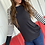 Thumbnail: Long sleeve black with leopard detail and stripes