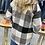 Thumbnail: Soft Button Down Black Plaid Shirt Jacket
