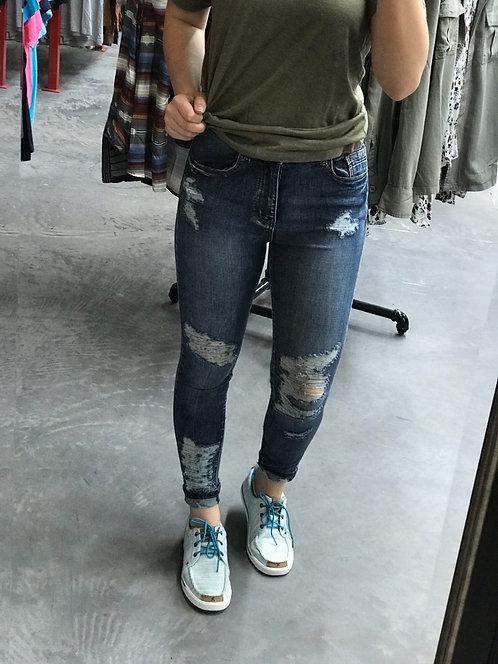 L&B Distressed Skinny Jean
