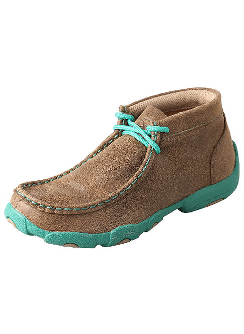 Kid's Driving Moccasin – Bomber/Turquoise YDM0017