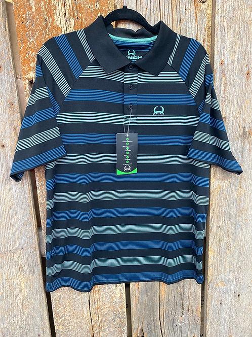 Cinch Arena Flex Green Stripe Short Sleeve Button Up