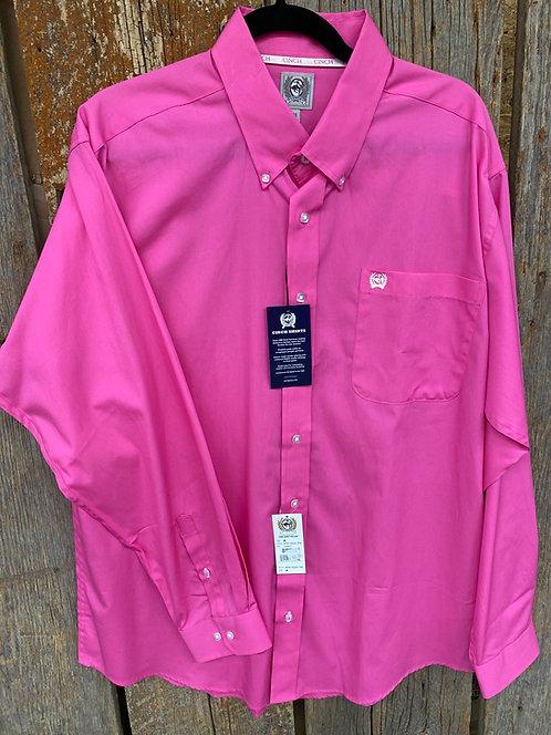 Hot Pink Men's Cinch Button Up