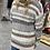 Thumbnail: Oatmeal Striped Knit Cardigan
