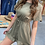 Thumbnail: Olive Drawstring Waist Romper with Back Opening