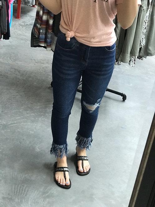 L&B Fringe High Wasted Skinny Jeans