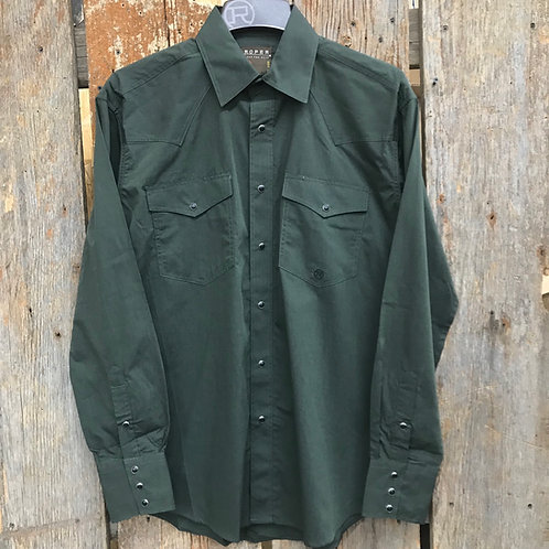 Roper Button Up - army green