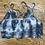Thumbnail: Tie Dye Grey and White Lace Bralette Floral