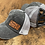 Thumbnail: Race Ranch Distressed Black / Charcoal- Ponytail Hat