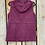 Thumbnail: Plum Utility Vest with Hood