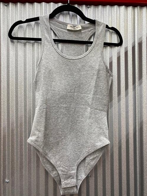 Light Grey Cotton Bodysuit