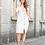 Thumbnail: L&B Ivory Stripes Button down Midi Dress 0432