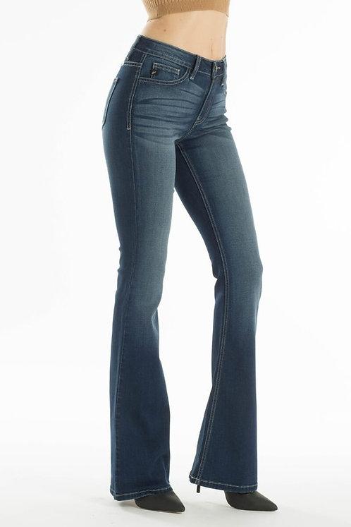 KanCan - Mid Rise Flare Jeans - KC6102M-OP