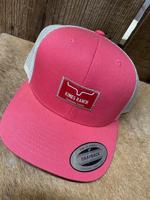 Pink Kimes Ranch Snap Back
