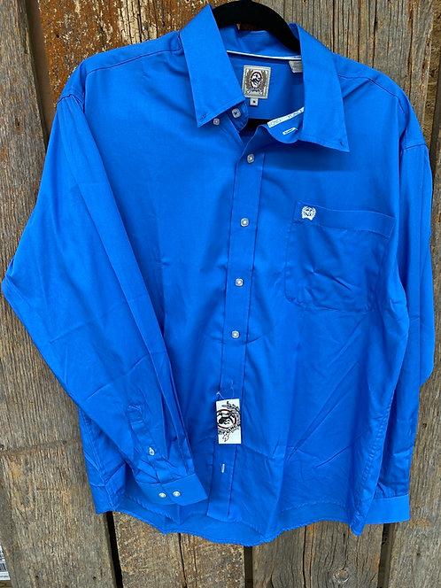 Blue Men's Cinch Button Up