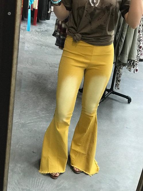Mustard Yellow Bell Bottoms