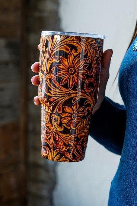 Tooled leather Print - Tumbler