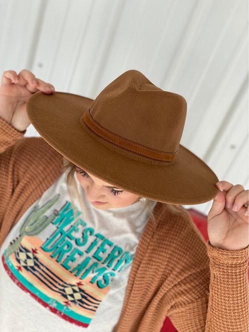 Dark Khaki Panama hat