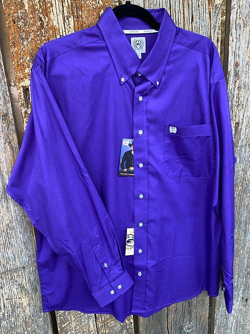Purple Men's Cinch Button Up