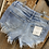 Thumbnail: Denim Light Wash Fringe Shorts