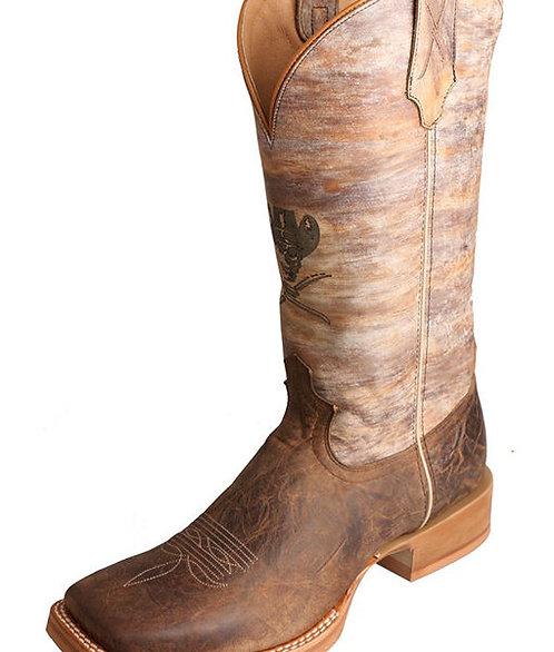 Men's Ruff Stock Boot – Distressed Crazy Horse/Multi-Color MRS0047