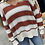 Thumbnail: Loose fit Light weight brick color black sweater