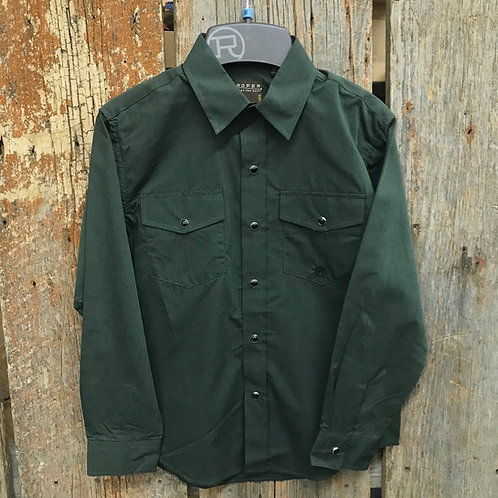 Boys Roper Button Up - Army Green