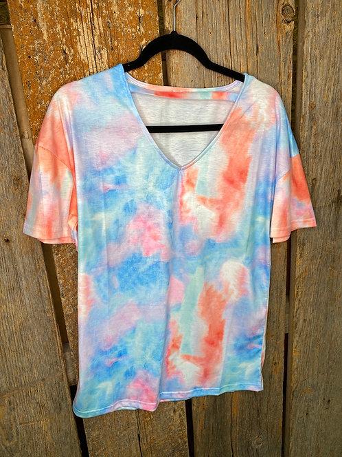 Tie dye V Neck Shirt