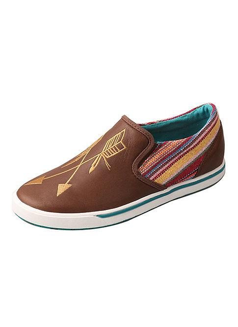 Women's Casual Shoe – Brown/Purple Mulit WCA0020