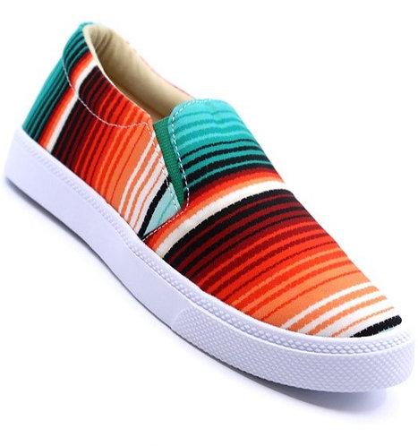 Serape Print Slip On Sneakers