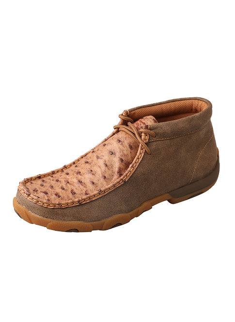 Women's Driving Moccasins – Bomber/Bomber Full Quill Ostrich WDM0038