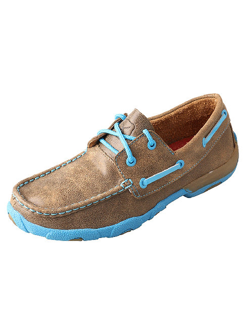 Women's Driving Moccasin – Bomber/Neon Blue WDM0019