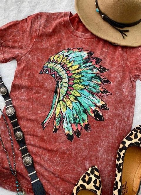 Indian Headdress - Graphic Tee