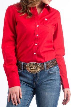 Cinch Ladies - Red Button Down Western
