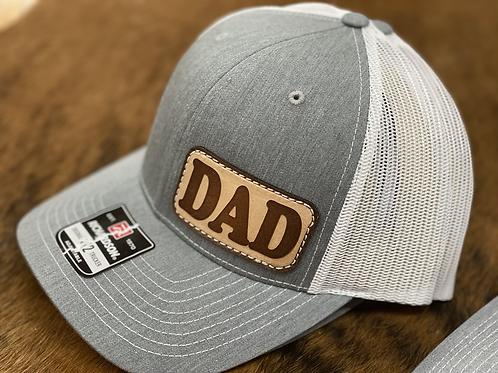 DAD Grey / White - Richardson 112 Patch hat