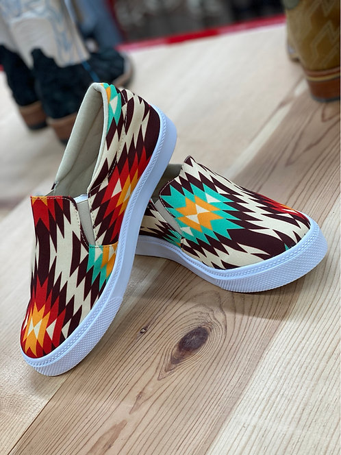 Aztec Slip On Sneakers
