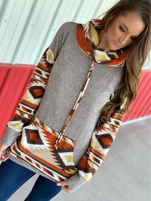 BRUSH SOLID & AZTEC TUNIC