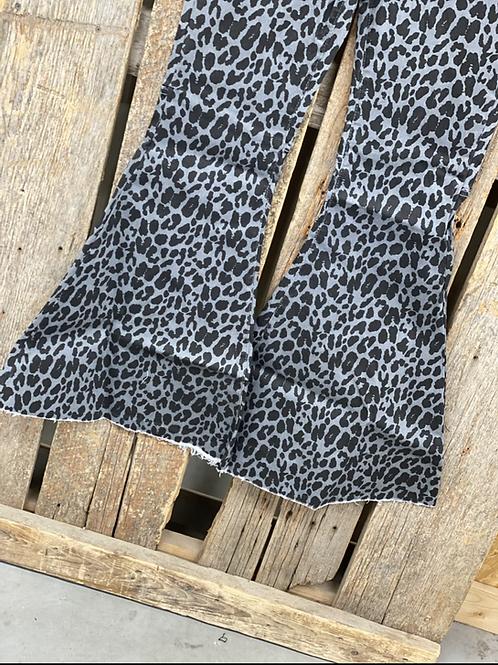 L&B Grey and Black Cheetah Flare