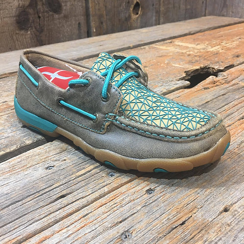 Women's Driving Moccasin – Bomber/Turquoise WDM0065