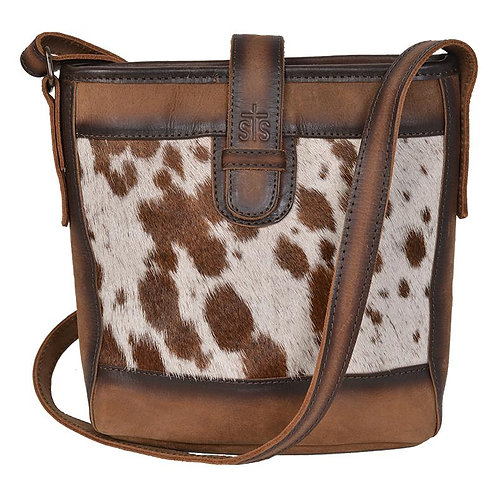STS35861 Cowhide Derby Bucket Bag