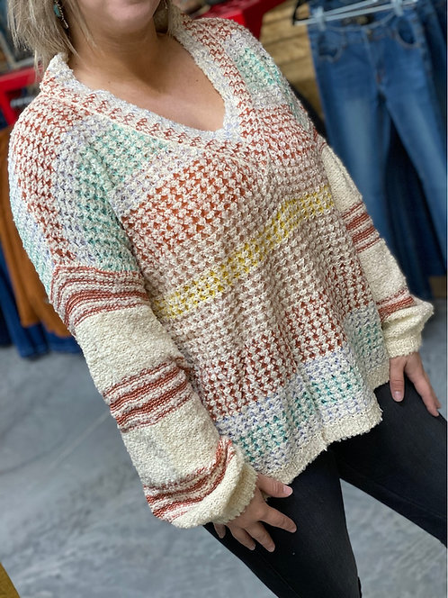 Rust multi colored soft style sweaters