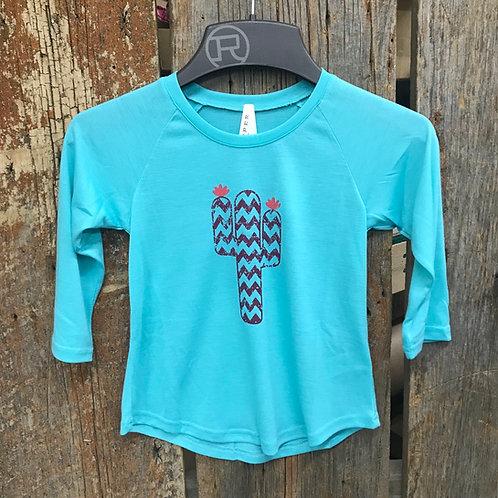 Girls Cactus Long Sleeve Roper Shirt