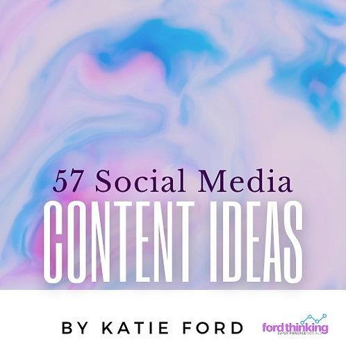 57 Social Media Ideas - eBook