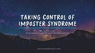 Webinar image for imposter syndrome