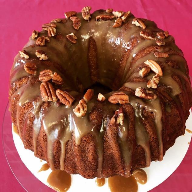 Butter Rum Pecan Pound Cake
