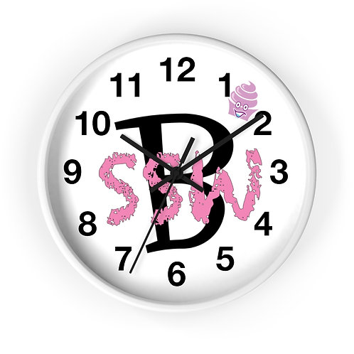 Start Small Win Big Logo Wall clock