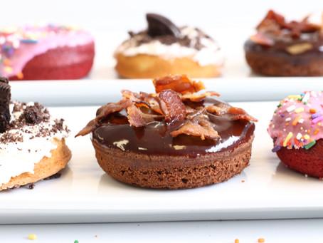One Step Homemade Cake Batter Doughnuts!