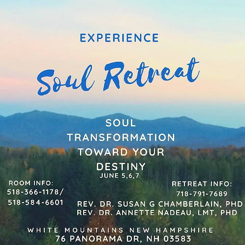 July 17,18,19 Soul Retreat: Soul Transformation toward your Destiny